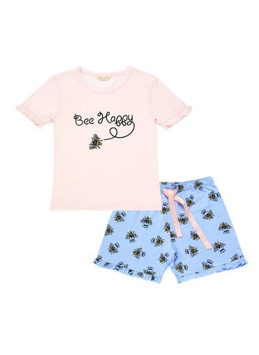 Katia & Bony Bee Love Kız Çocuk Şort Set  Pembe